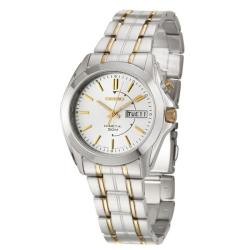Seiko Men's 'Kinetic' Stainless and Yellow Goldplated Steel Kinetic Watch