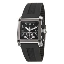 Baume & Mercier Men's 'Hampton' Stainless Steel, Titanium and Black Rubber Automatic Watch