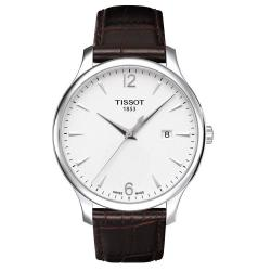 Tissot Men's 'Tradition' Brown Leather Band Watch