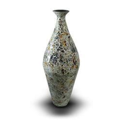 Sunshine Aladdin Mosaic Glass/ Metal Vase