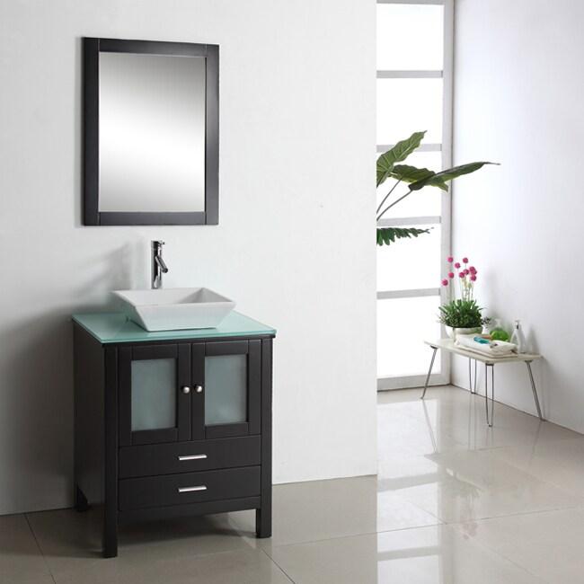 Virtu USA Hilford 28-inch Single Sink Bathroom Vanity Set