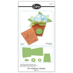 Sizzix Bigz Pro Card & Pocket, Flower Pot with Flowers & Leaf Die