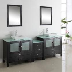 Hilford 90-inch Double-sink Bathroom Vanity Set