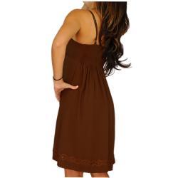 1 World Sarongs Women's Black Short Dress
