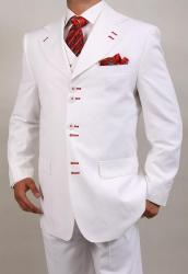 Ferrecci Men's White Six-button Suit