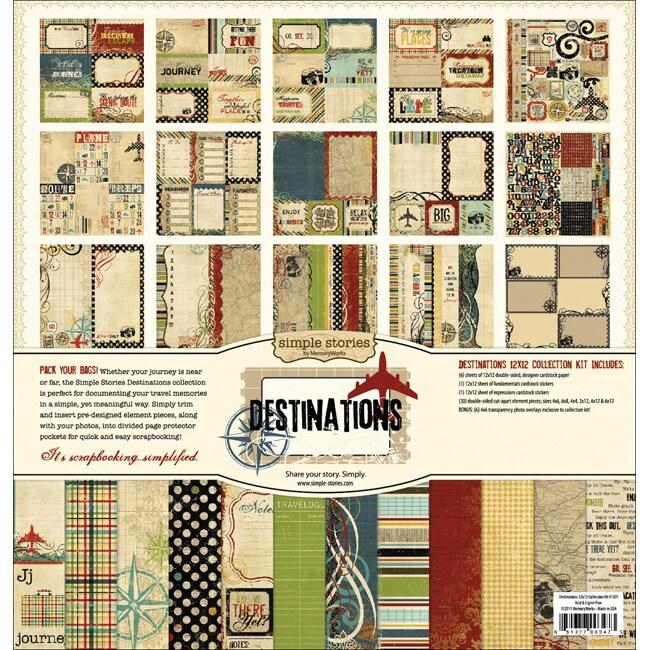 Simple Stories Destinations Collection Kit (12 x 12)