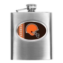 Cleveland Browns 8-oz Stainless Steel Hip Flask