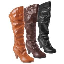 Journee Collection Women's 'Verde-10DL' Cinched Mid-calf Boots