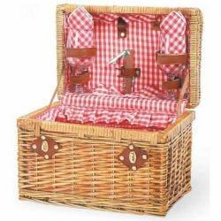 Picnic Time 21532300 Chardonnay Red Check Picnic Basket