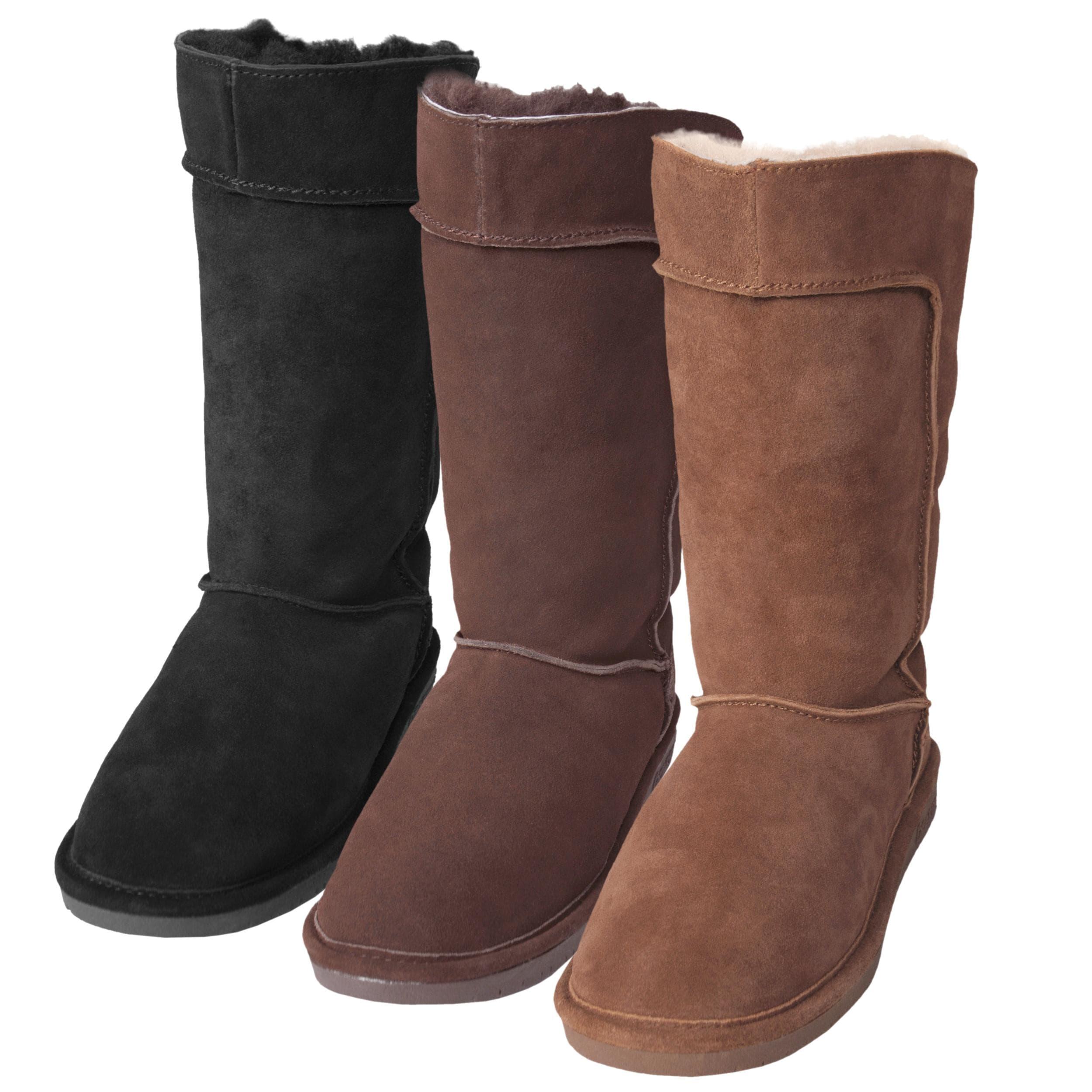 Bearpaw Women's 'Hayden' Suede Sheepskin-lined Epaulet Detail Boots