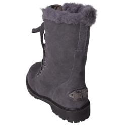 Bearpaw Women's 'Kayla' Suede Sheepskin-lined Lace-up Lug Sole Boots