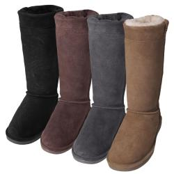Bearpaw Women's 'Brandy II' Suede Sheepskin-lined Embossed Boots