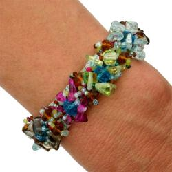 Glass Bead Isabela Wildflower Bracelet (Guatemala)