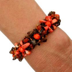 Glass Bead Isabela Pumpkin Spice Bracelet (Guatemala)