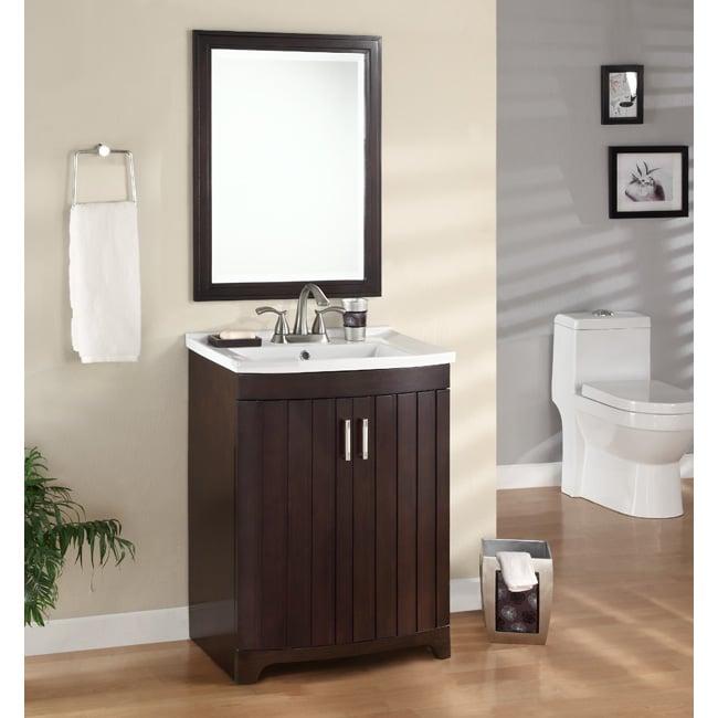 Morgan Espresso Sink and Mirror Vanity Set
