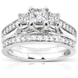 14k White Gold 4/5ct TDW Diamond Bridal Ring Set (H-I, I1-I2)