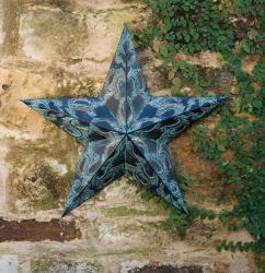 Rusti Blue Filigree Wall Star