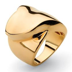 Toscana Collection 14k Goldplated Freeform Foldover Ring