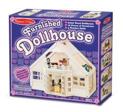 Melissa & Doug Furnished Dollhouse Play Set