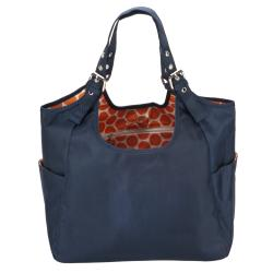 JP Lizzy Navy Mandarin Diaper Satchel