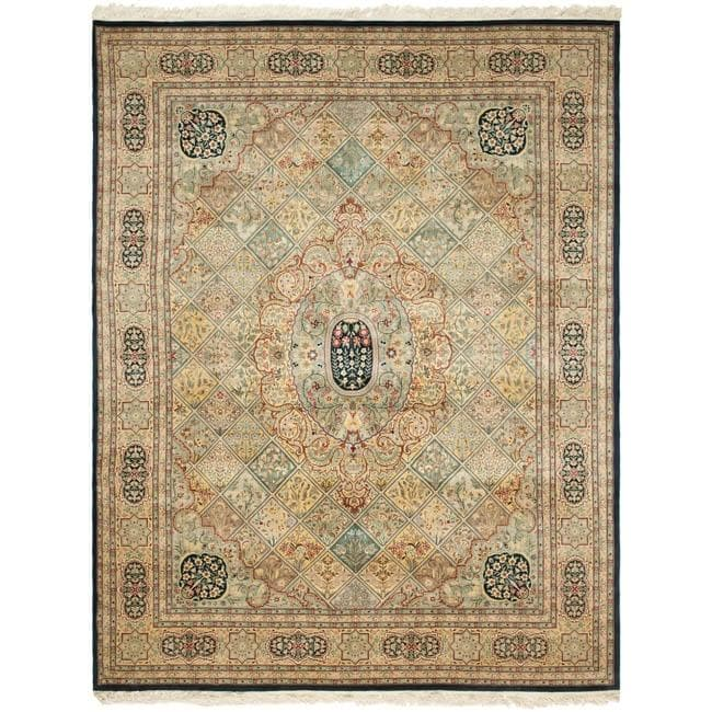 Asian Hand-knotted Royal Kerman Multicolor Wool Rug (9' x 12')