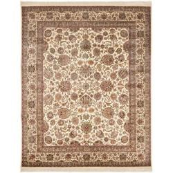 Asian Hand-knotted Royal Kerman Ivory Wool Rug (9' x 12')