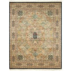 Asian Hand-Knotted Royal Kerman Beige Multicolor Wool Rug (8' x 10')