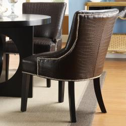 Westmont 5-piece Brown Faux Alligator Dining Set