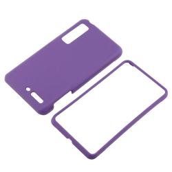 Purple Rubber Coated Case/ Screen Protector for Motorola Droid 3 XT862