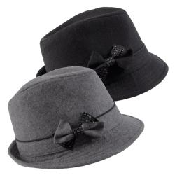 Hailey Jeans Co Women's Bow Accent Fedora