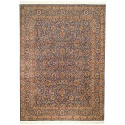 Asian Hand-knotted Royal Kerman Lilac Wool Rug (9' x 12')