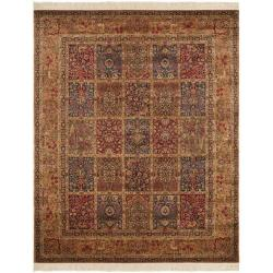 Asian Hand-Knotted Royal Kerman Rust Multicolor Wool Rug (8' x 10')
