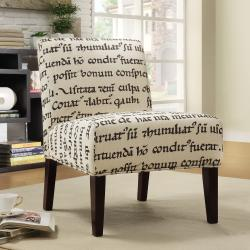 Decor Latin Script Linen Lounger Chair