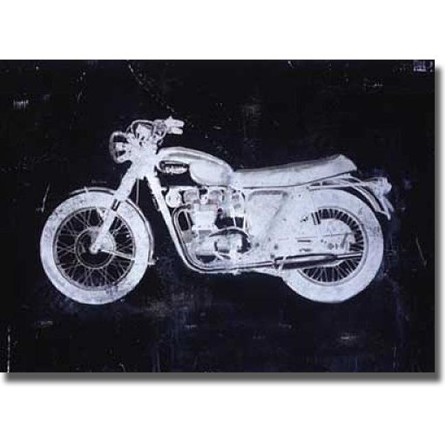 J.B. Hall 'Moto White' Canvas Art