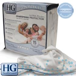 HealthGuard Bed Protector Ultra Plush California King-size Mattress Protector