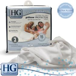 HealthGuard Bed Protector Ultra Plush King-size Pillow Protectors (Set of 2)