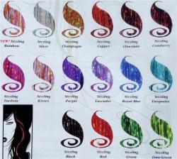 Bling Strands Sizzling Purple Hair Tinsel Fibers
