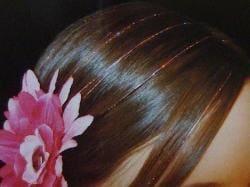 Bling Strands Sizzling Black Hair Tinsel Fibers
