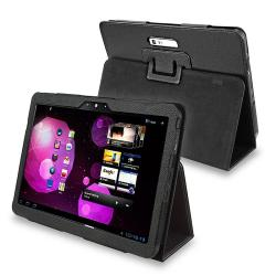 Black Leather Case for Samsung Galaxy Tab 10.1V P7100