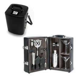 Picnic Time New York Giants Black Manhattan Cocktail Case