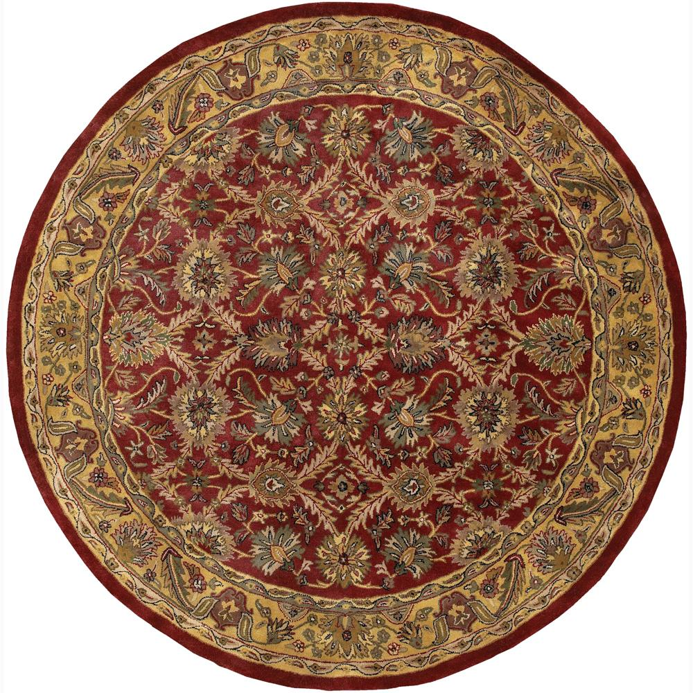 Hand-Tufted Traditional Oriental Mandara New Zealand Wool Rug (7'9 Round)