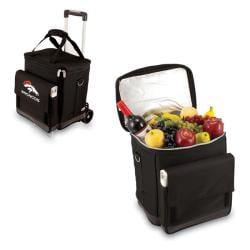 Picnic Time Black Denver Broncos Cooler with Trolley