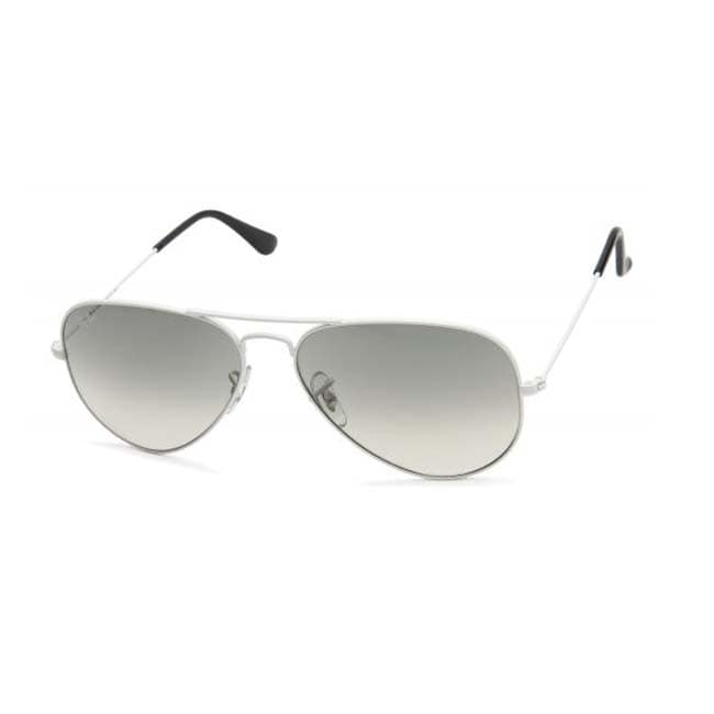 Ray-Ban White Metal Aviator Sunglasses