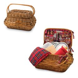 Picnic Time Houston Texans Red Tartan Picnic Set