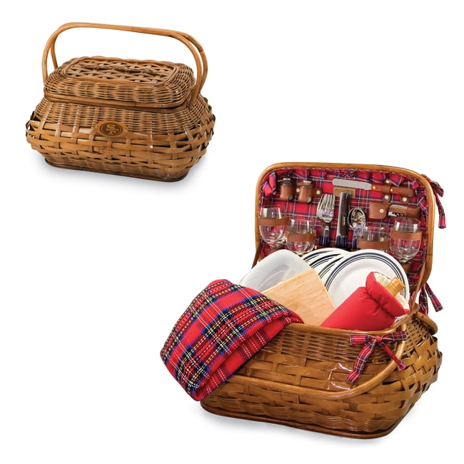 Picnic Time Highlander Red Tartan San Francisco 49ers