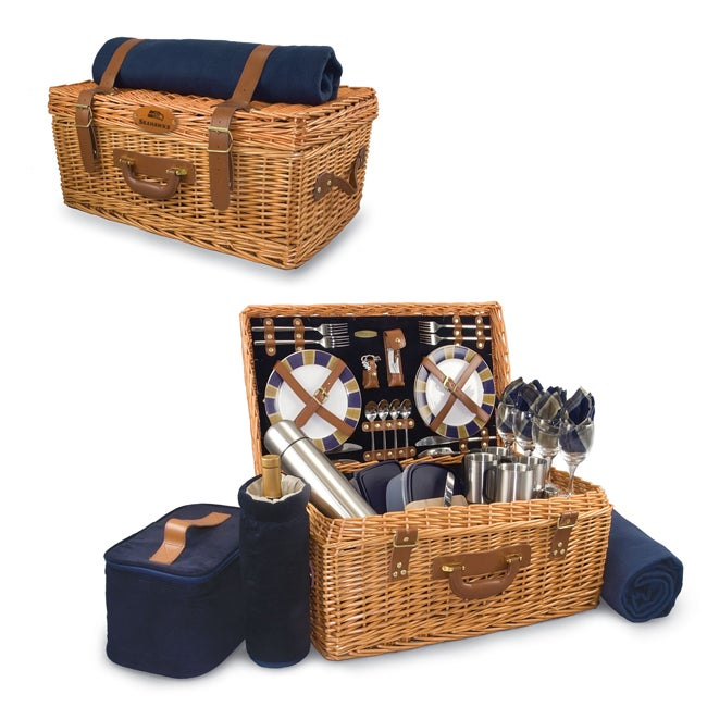 Picnic Time Navy Seattle Seahawks Windsor Picnic Basket