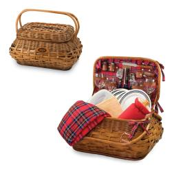 Picnic Time New York Jets Red Tartan Picnic Set