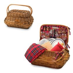 Picnic Time New Orleans Saints Red Tartan Picnic Set