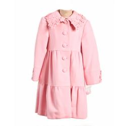 Trilogi Collection Girls Pink Wool Blend Coat