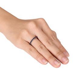 14k White Gold Sapphire Eternity Ring